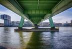 HDR von der Unterseite der Severinsbrücke
