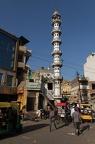 Minarett der Masjid Quereshiyan Moschee