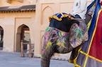 bemalter Elefant