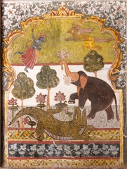 Wandmalerei im Raja Mahal