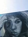 Graffiti eines authentischen Frauengesichts