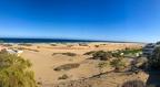 Und im Hintergrund die Playa de Maspalomas